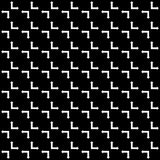 Vector naadloos abstract zwart-wit patroon Abstract Behang als achtergrond Vector illustratie Stock Illustratie