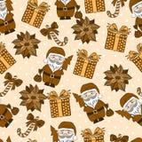 Vector naadloos achtergrond, Kerstmis en Nieuwjaar Royalty-vrije Stock Foto