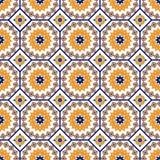 Vector naadloos Arabisch patroon Arabesque, Ramazan, groet, gelukkige maandramadan Patroon van de islam het naadloze meetkunde royalty-vrije illustratie