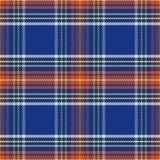 Vector naadloos blauw en rood Schots geruit Schots wollen stof royalty-vrije illustratie