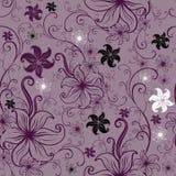 Vector Naadloos bloemen getold patroon vector illustratie
