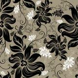 Vector Naadloos bloemen getold patroon stock illustratie
