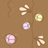 Vector naadloos bloemenpatroon Stock Foto's