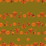 Vector naadloos bloemenpatroon 3 Royalty-vrije Stock Fotografie