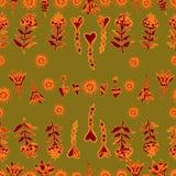 Vector naadloos bloemenpatroon 5 Royalty-vrije Stock Afbeeldingen