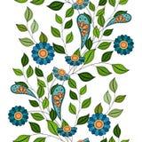 Vector naadloos bloemenpatroon Royalty-vrije Stock Fotografie