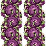 Vector naadloos bloemenpatroon Stock Foto