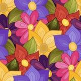 Vector naadloos bloemenpatroon Royalty-vrije Stock Foto