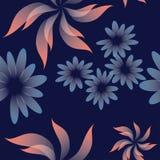 Vector Naadloos Bloemenpatroon met Abstracte Bloemen vector illustratie