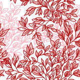 Vector naadloos bloemenpatroon met bladeren Stock Afbeelding