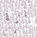 Vector Naadloos Bloemenpatroon met Tak en Blad royalty-vrije illustratie