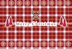Vector naadloos christan geruit Schots wollen stof, geruit Schots wollen stofpatroon, Kerstkaarten Stock Afbeeldingen