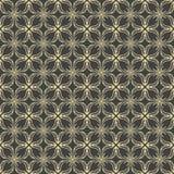 Vector naadloos damast elegant patroon op zwarte achtergrond Stock Fotografie