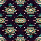 Vector naadloos decoratief etnisch patroon Amerikaanse Indische motieven vector illustratie