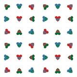 Vector naadloos die retro patroon, multicolored harten met lint met boog worden gebonden Kan voor Web-pagina achtergrond worden g Royalty-vrije Stock Fotografie