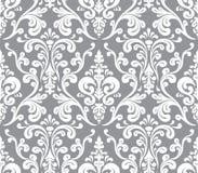 Vector Naadloos elegant damastpatroon Stock Afbeeldingen