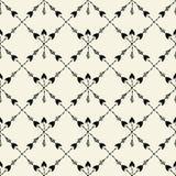 Vector naadloos etnisch patroon met pijl Naadloos patroon in inheemse Amerikaanse stijl Stammenpijlen op witte achtergrond Royalty-vrije Stock Fotografie