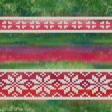 Vector naadloos gebreid patroon met sneeuwvlokken Royalty-vrije Stock Fotografie