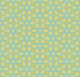 Vector Naadloos Geel en Teal Hexagonal Geometric Simple Floral-Bloemblaadjepatroon Stock Afbeelding