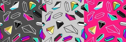Vector naadloos geometrisch patroon Stock Foto's