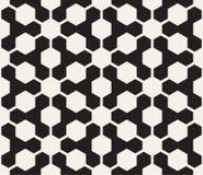 Vector naadloos geometrisch patroon Contrast abstracte achtergrond Veelhoekig net met gewaagde vormen vector illustratie