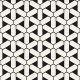 Vector naadloos geometrisch patroon Eenvoudig abstract lijnenrooster Het herhalen van elementen modieuze achtergrond vector illustratie