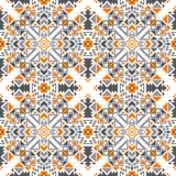 Vector Naadloos Geometrisch Stammen Etnisch Patroon vector illustratie