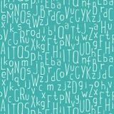Vector naadloos getrokken patroon van kleurrijke hand Stock Afbeelding