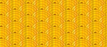 Vector Naadloos Gouden Aziatisch Oosters Patroon, Geometrisch Ornament Royalty-vrije Stock Afbeelding