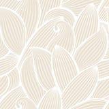 Vector naadloos hand-drawn patroon met blad Stock Afbeeldingen