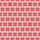 Vector naadloos Kerstmispatroon voor sweater met rode elementen op witte achtergrond stock illustratie