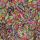 Vector naadloos kleurrijk patroon, getrokken hand, krabbels Royalty-vrije Stock Foto