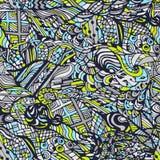 Vector naadloos kleurrijk patroon, getrokken hand, krabbels Royalty-vrije Stock Fotografie