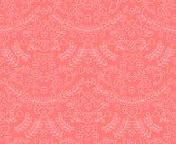 Vector naadloos leuk bloemenpatroon met laurels, harten, kronen royalty-vrije illustratie