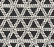 Vector Naadloos Lijnenpatroon De moderne modieuze textuur van driehoeksvormen Het herhalen van geometrische tegels stock foto's