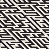 Vector Naadloos Maze Diagonal Line Geometric Irregular-Patroon royalty-vrije illustratie