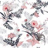 Vector naadloos mooi artistiek helder tropisch patroon met Royalty-vrije Stock Foto