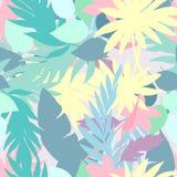 Vector naadloos mooi artistiek helder tropisch patroon met banaan, van Syngonium en Dracaena-blad, de pret van het de zomerstrand vector illustratie