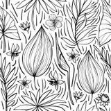 Vector naadloos mooi artistiek helder tropisch patroon met banaan, van Syngonium en Dracaena-blad, de pret van het de zomerstrand stock illustratie