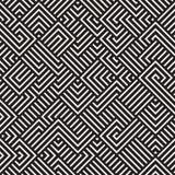 Vector Naadloos Onregelmatig Maze Lines Geometric Pattern royalty-vrije illustratie