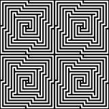 Vector Naadloos Optisch Labyrint stock illustratie