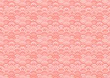 Vector Naadloos Orietal-Patroon, Levende Coral Color Trend van het Jaar van 2019 stock illustratie