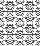 Vector naadloos patroon Stock Foto's