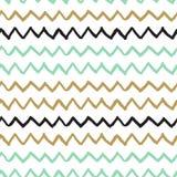 Vector naadloos patroon Abstracte achtergrond met de slagen van de zigzagborstel Stock Foto