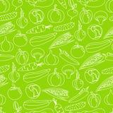 Vector naadloos patroon als achtergrond van kleurrijke groenten Stock Afbeeldingen