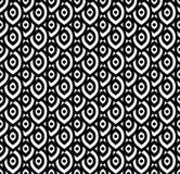 Vector naadloos patroon in Arabische stijl Abstracte grafische zwart-wit achtergrond met dunne golvende lijnen, gevoelig rooster Royalty-vrije Stock Afbeeldingen