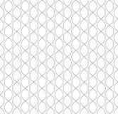 Vector naadloos patroon in Arabische stijl Abstracte grafische zwart-wit achtergrond met dunne golvende lijnen, gevoelig rooster Stock Afbeeldingen