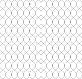 Vector naadloos patroon in Arabische stijl Abstracte grafische zwart-wit achtergrond met dunne golvende lijnen, gevoelig rooster Stock Foto
