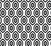 Vector naadloos patroon in Arabische stijl Abstracte grafische zwart-wit achtergrond met dunne golvende lijnen, gevoelig rooster Royalty-vrije Stock Fotografie