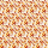 Vector naadloos patroon Bestaat uit geometrische elementen De elementen hebben een vierkante vorm en een verschillende kleur Royalty-vrije Stock Afbeeldingen